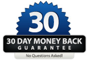 No Quibble 30 Day Money Back Guarantee