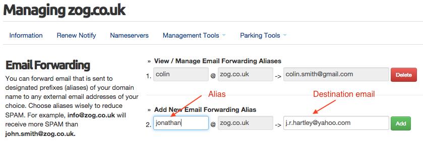 emailforwarding