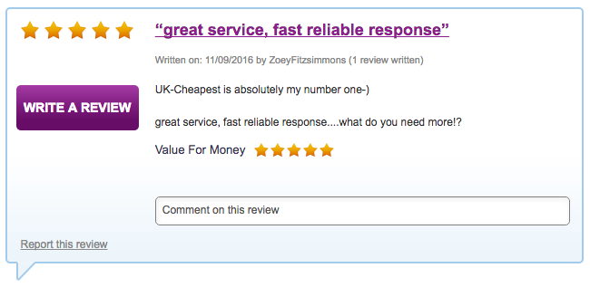 UK-Cheapest is absolutely my number one-)   great service, fast reliable response....what do you need more!?